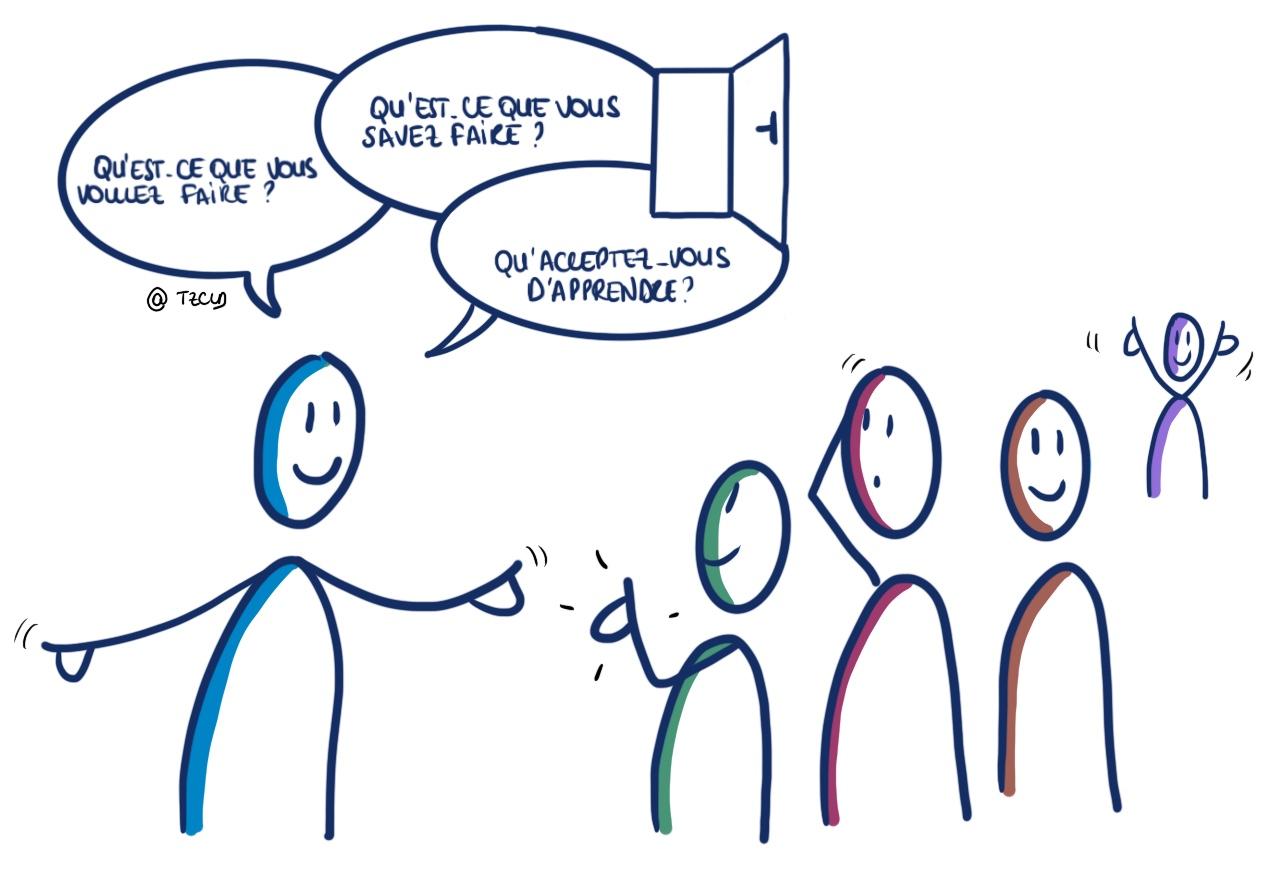 les 3 questions lors de la rencontre avec les ppde