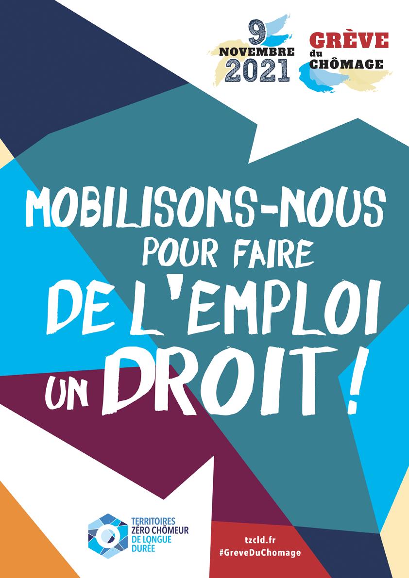 Affiche A3 Grève du chômage