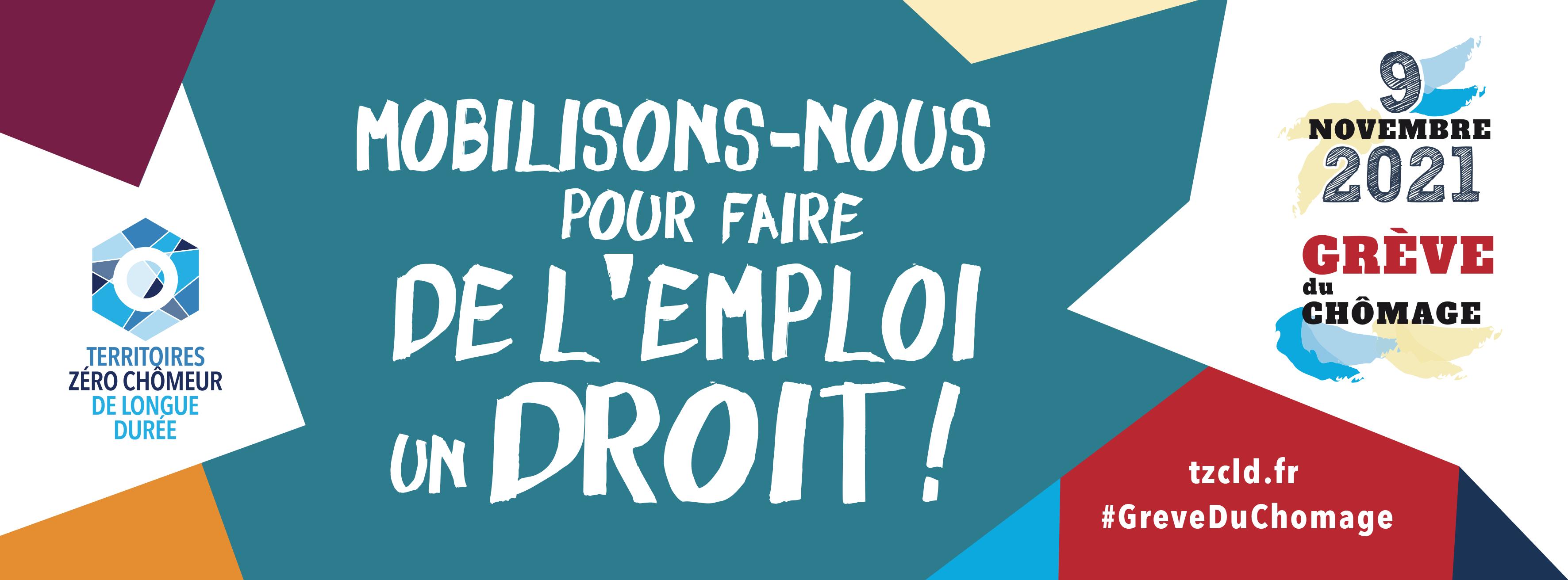 Bandeau FB Grève du chômage 2021